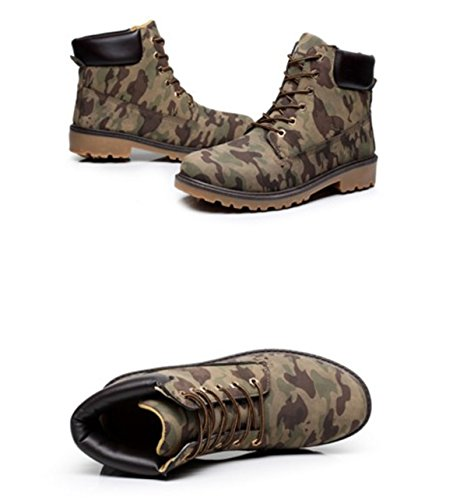Bininbox Manar Tillfälliga High-top Arbete Stövlar Bomull Snö Sneakers Andas Sportsportskor Vintage Kamouflage