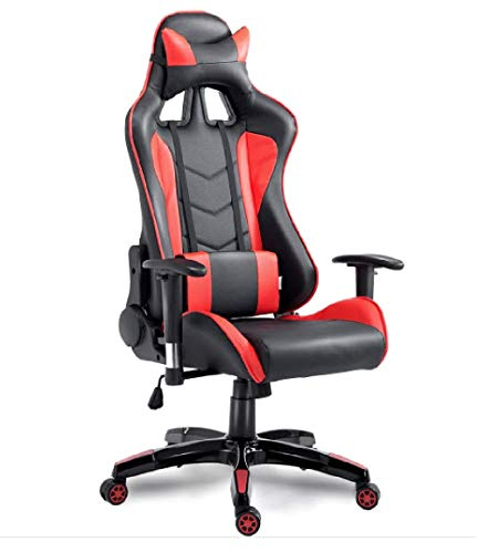 Racing Series Premium Gaming Chair Ergonomic with High Backrest, Recliner 175 Degree, Swivel, Tilt & Seat Height Adjustment Mechanisms - Comfortable Gift Chair for Son, Brother, Teen Fan of Games Desk (Mechanism Height Adjustment)