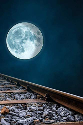 Railroad Tracks and a Full Moon Solitary Travels Journal: 150 Page Lined Notebook/Diary