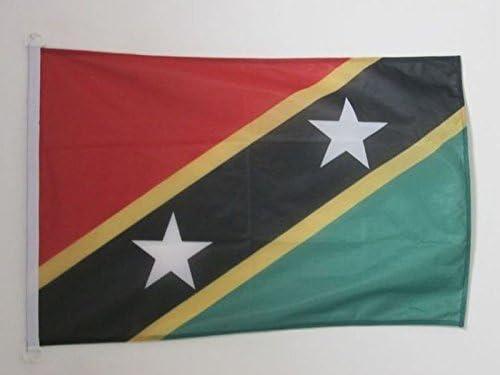 Drapeau de Bateau kittitien-nevicien 30 x 45 cm AZ FLAG Pavillon Nautique Saint Kitts et Nevis 45x30cm