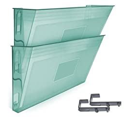 Acrimet Wall-mounted Modular File Holder (2 - Pack) (Green Color)