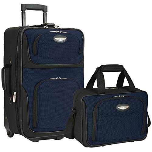 Traveler's Choice Travel Select Amsterdam Expandable Carry-on Rolling Upright, Navy