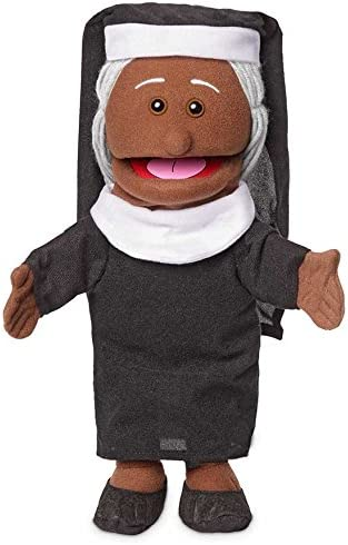 Silly Puppets Nun Glove Puppet Bundle 14 inch with Arm Rod