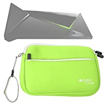 DURAGADGET Lime Green Water Resistant Neoprene Travel Case with Front Zip Compartment For The New Nvidia Shield Android TV