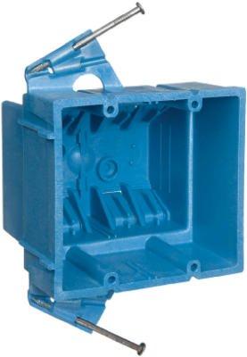 Thomas & Betts BH235A 2-Gang New Work Super Blue Hard Body Wiring Box - Quantity 48