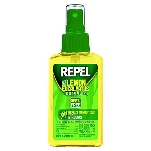 Repel Lemon Eucalyptus Natural Insect Repellent, 4-Ounce Pump Spray, Pack of 4 ()