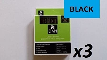 3X Compatible DYMO D1 Series Standard Labelling Tapes Black ON RED 53717 24mm X 7m