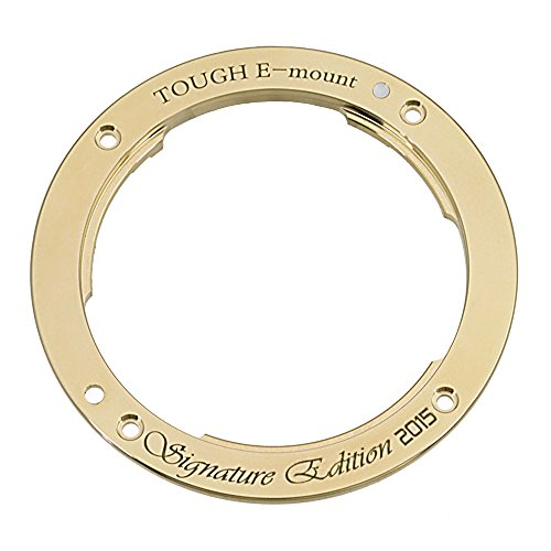 The Signature Edition 2015 TOUGH E-Mount from Fotodiox Pro - Distinctive Brass Replacement Lens Mount for Sony NEX & E-mount Camera Bodies (APS-C & Full Frame such as NEX-5, NEX-7 & ?7)