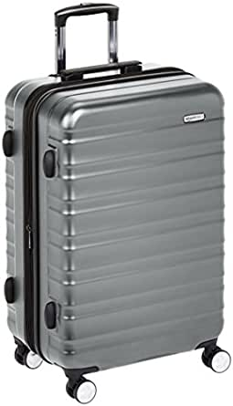 Amazon Com Amazonbasics Premium Hardside Spinner Luggage With Built In Tsa Lock 28 Inch Grey