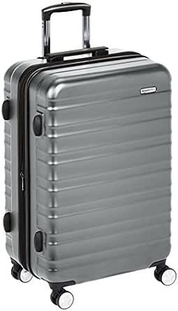 AmazonBasics Premium Hardside Trolley Luggage with Built-In TSA Lock - 28-Inch, Grey
