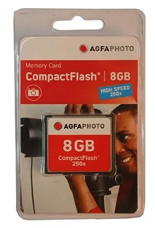 Amazon.com: AgfaPhoto 8 GB Compact Flash tarjeta de memoria ...