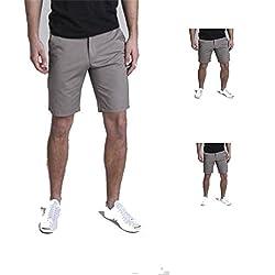 Izod Mens Short Solid Grey 30
