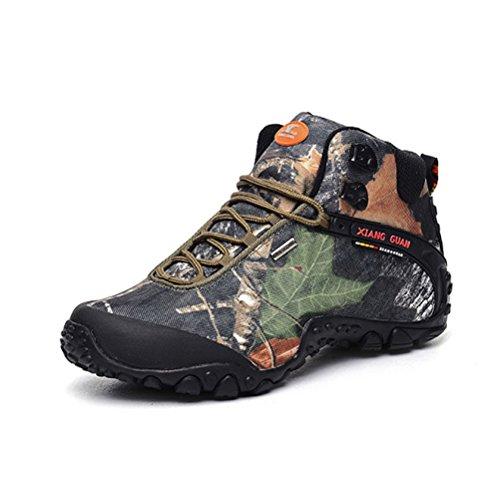 ZXCB Scarpe da Trekking Uomo Impermeabile Trekking Scarpe da Passeggio per Esterni Scarpe Sportive Traspiranti Antiscivolo
