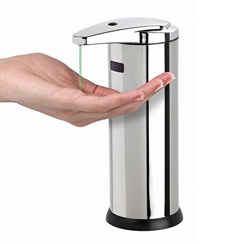 Soap Dispenser Liquid Automatic Sensor Touchless Steel Stainless Hands - Wickes.co.uk