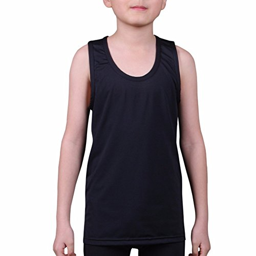 - Kids Compression Tank Top Underwear Boys Youth Base Layer Sleeveless Shirt RK BK S