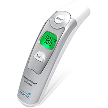 Innovo Medical Digital Forehead and Ear Thermometer 2017 Model - Temperature and Fever Health Alert Clinical Monitoring System for Children and Adults - CE and FDA Cleared