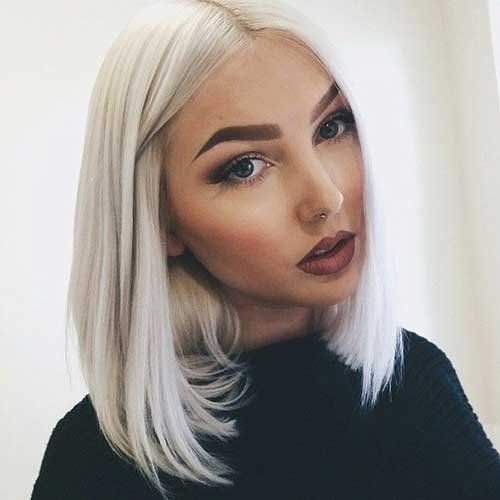 EEWIGS Short Bob Wigs White Light Blonde Yaki Straight Synthetic Lace Front Wigs for Women for $<!--$34.99-->