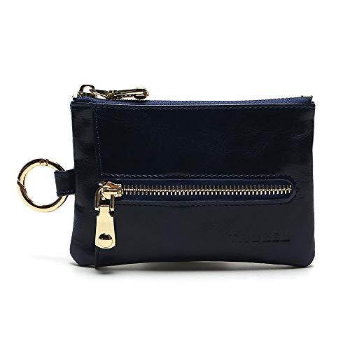 À Pochette Porte Cuir Voiture clé Case Blue La Key Véritable Zip Rétro Clé Monnaie En Porte Lwyj Portefeuille Main Étui Sac vq0Bfxa