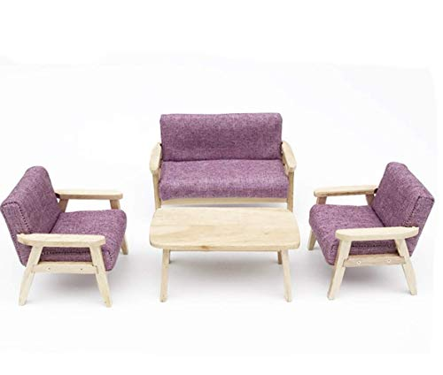 AI-YUN Dollhouse Furniture Model Set Living Room Scene 1:12 Specifications (Purple)