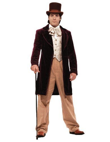 Men's Deluxe Candy Man Theater Quality Costume, (Wonka Candy Costumes)