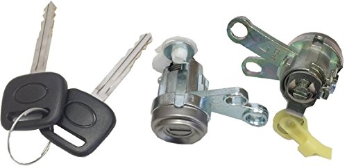 Toyota Camry Alarm - Well Auto Door Lock Cylinder Set -Tumbler with Key(L & R) 92-96 Camry