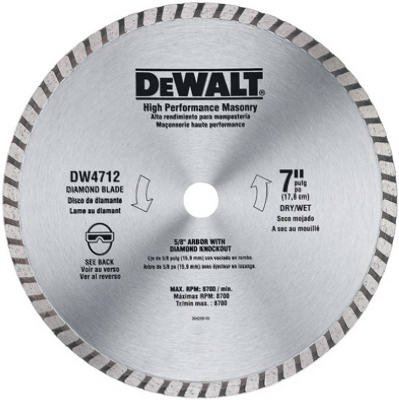 028874247123 - DEWALT DW4712B 7-Inch High Performance Diamond Masonry Blade carousel main 0