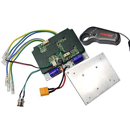(Hobbysky 36V Upgrade Dual Motor Drive ESC for Brushless Belt Motor & Wireless 2.4G Remote Control Transmitter for Electric Skateboard Longboard Scooter DIY Skateboard)