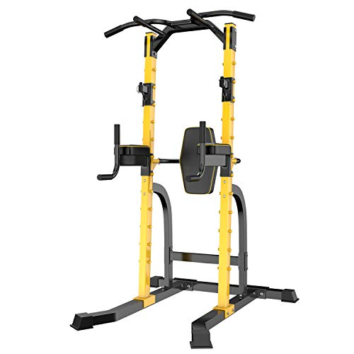 ZENOVA Power Tower Adjustable Height Multi-Function Home Strength Training Tower Dip Stand Workout Station Bar