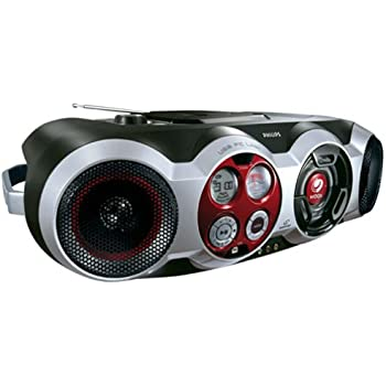 Amazon Com Philips Az2555 Cd Boombox With Usb Pc Link
