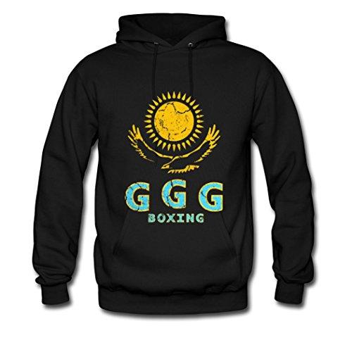 Hkpopo Ggg Boxing Flag Logo Top Quality Unisex Black Mens Hoodies Xx Large