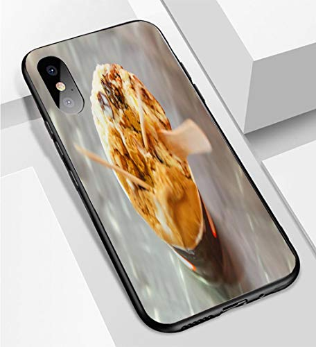 Mocha Rum - iPhone X/XS Ultra-Thin Phone case Mocha and Rum Raisin ice Cream Anti-Drop Anti-Slip Soft Convenient Protective Shell