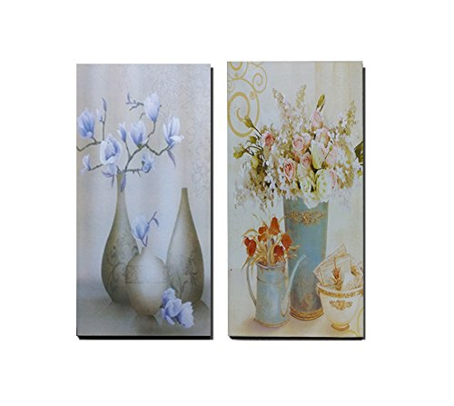 TIED RIBBONS Wall Painting Set of 2 (39 cm X17.5 cm, Rectangular, Multicolor)