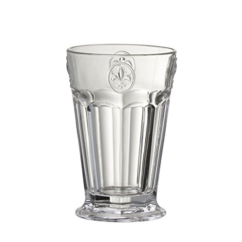 Amici Fleur de Lis Hiball Glasses, 8 oz - Set of 4