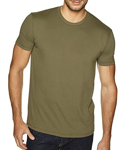 Next Level Men's Premium Fitted Sueded Crew, Military Green, - Outlets La Premium