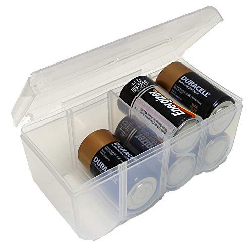 Dial Industries B330FN Battery Organizer Case, 8 D, Clear