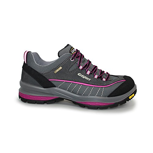 Grisport Women's Lady Nova Low Rise Hiking Boots Pink (Grey/Pink) aaFk0t5Y