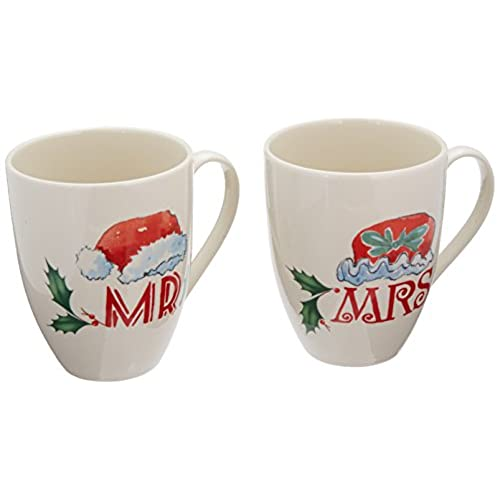 lenox home for the holidays mr and mrs mug set ivory - Cheap Christmas Mugs
