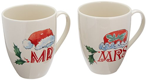 Lenox Home for The Holidays Mr. and Mrs. Mug Set, Ivory (Lenox Holiday Coffee)