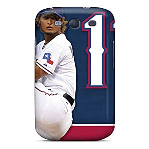 Durable Defender Case For Galaxy S3 Tpu Cover(texas Rangers)