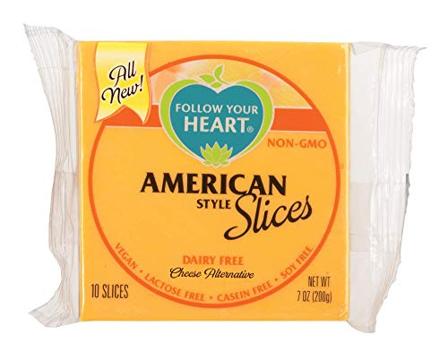 Follow Your Heart Dairy Free, Soy Free, Gluten Free, Vegan Sliced Cheese Alternative 7 ounces (10 Slices) Pack of 12 (American)