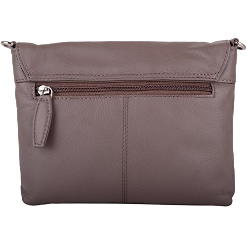 Clutch Premium Bag Body Bag Hand Taupe Cross Leather Womens Soft Shoulder gBPdn8x8