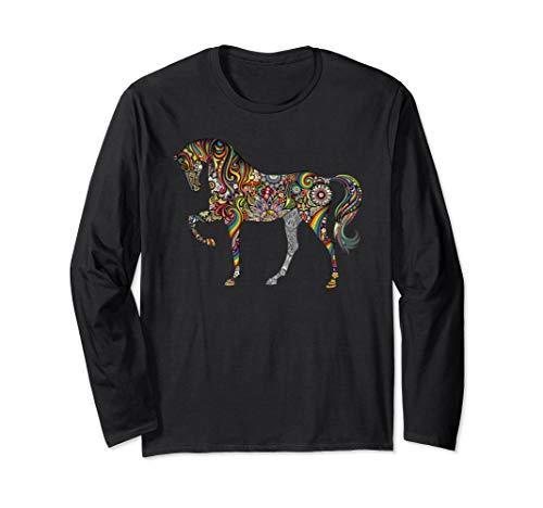 Beautiful Horse Totem Tattoo Art Long Sleeve T-Shirt