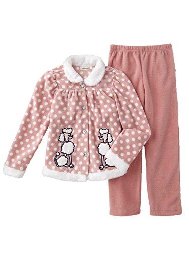 (Infant & Toddler Girls Poodle Outfit Pink Fleece Polka Dot Shirt & Pants 18m)