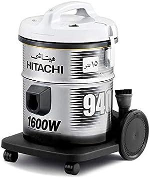 هيتاشي مكنسة كهربائية، قوة 1600 واط، سعة 15 لتر، لون رمادي بلاتيني