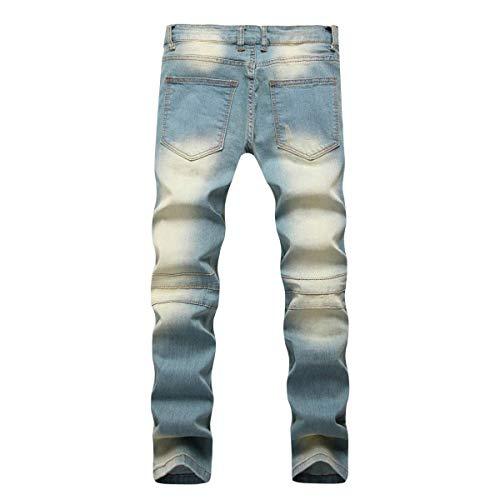 Skinny Vintage Blu Qk Uomini Dritta Metà Ragazzo Il Di Libero Stretch Della Vita Tempo Jeans lannister Per Strappati Nostalgia OOrBv