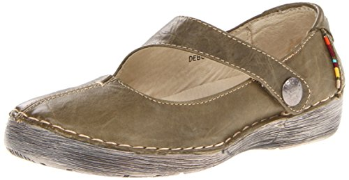 Spring Step Women's Debutante Mary Jane Flat - Olive - 42...