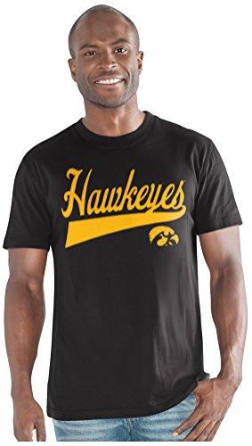 - G-III Sports NCAA Iowa Hawkeyes Men's Legend Short Sleeve Top, Black, XX-Large