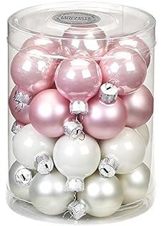 Christbaumkugeln Rosa Glas.Inge Glas Magic Christbaumkugeln Glas 8cm 6 Stk Dose Farbe Noble