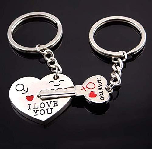 Amazon.com: Llavero romántico para parejas, diseño de ...