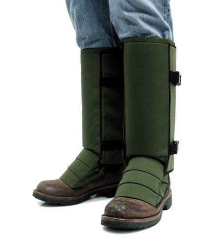 (Crackshot Men's Snake Bite Proof Guardz Gaiters, Olive Green, Large)